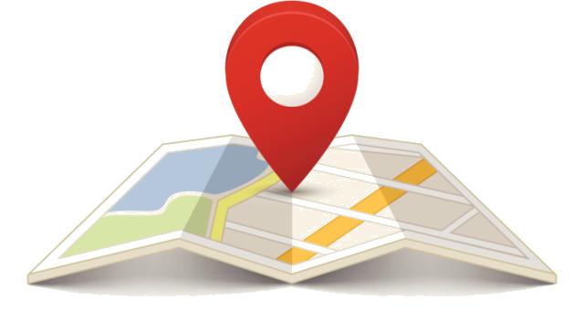 Épingle de localisation sur une carte Google