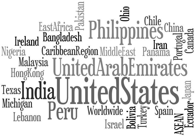 Notre client est contacté par des distributeurs à travers le monde