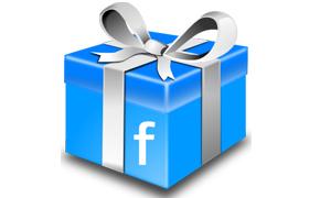 Boîte cadeau avec le logo Facebook